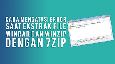 Cara Extract File Winrar atau Winzip Menjadi Folder File