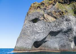 Elephant Face show in Iceland Mountain