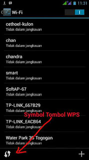 menu WPS di Android
