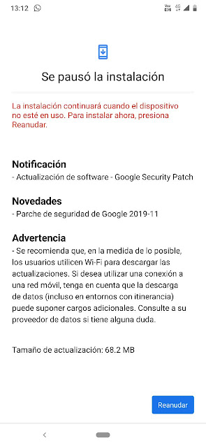 Nokia 6.2 receiving November 2019 Android Security patch