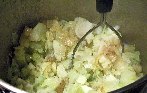 Mashing Ingredients together in Pot