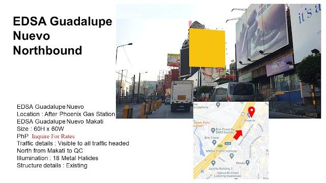 EDSA Guadalupe Northbound Billboard : EDSA Guadalupe Nuevo