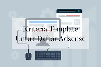 kriteria template untuk daftar adsense