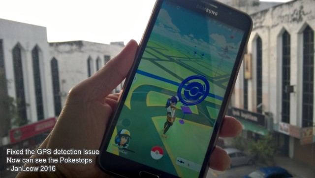 Pokemon Go GPS is working!