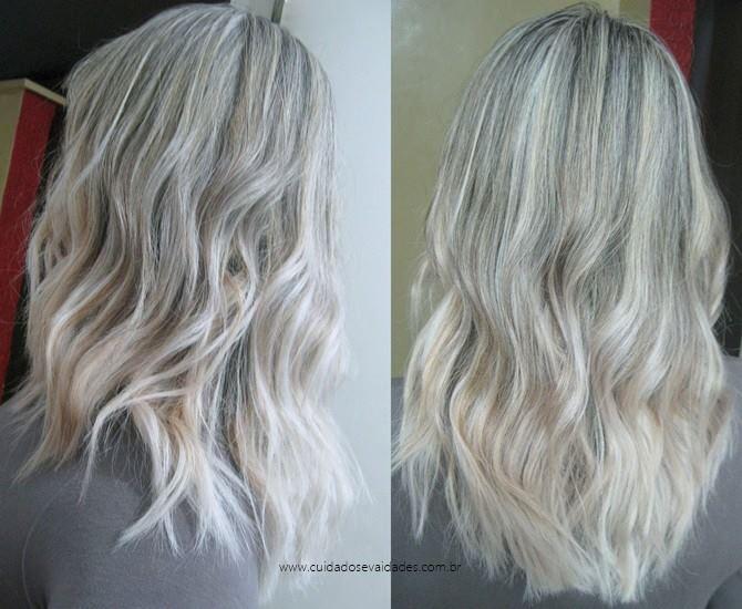 Antes e depois Shampoo Matizador Safe Blond MacPaul