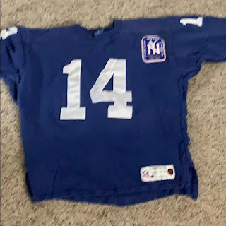 New York Giants YA Tittle Champion Throwbacks jersey