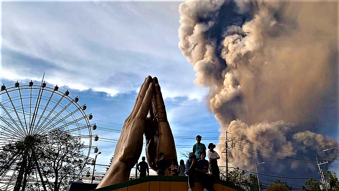 Taal volcano eruption.