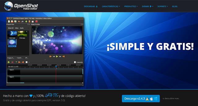 Editores de vídeo para Linux: Openshot