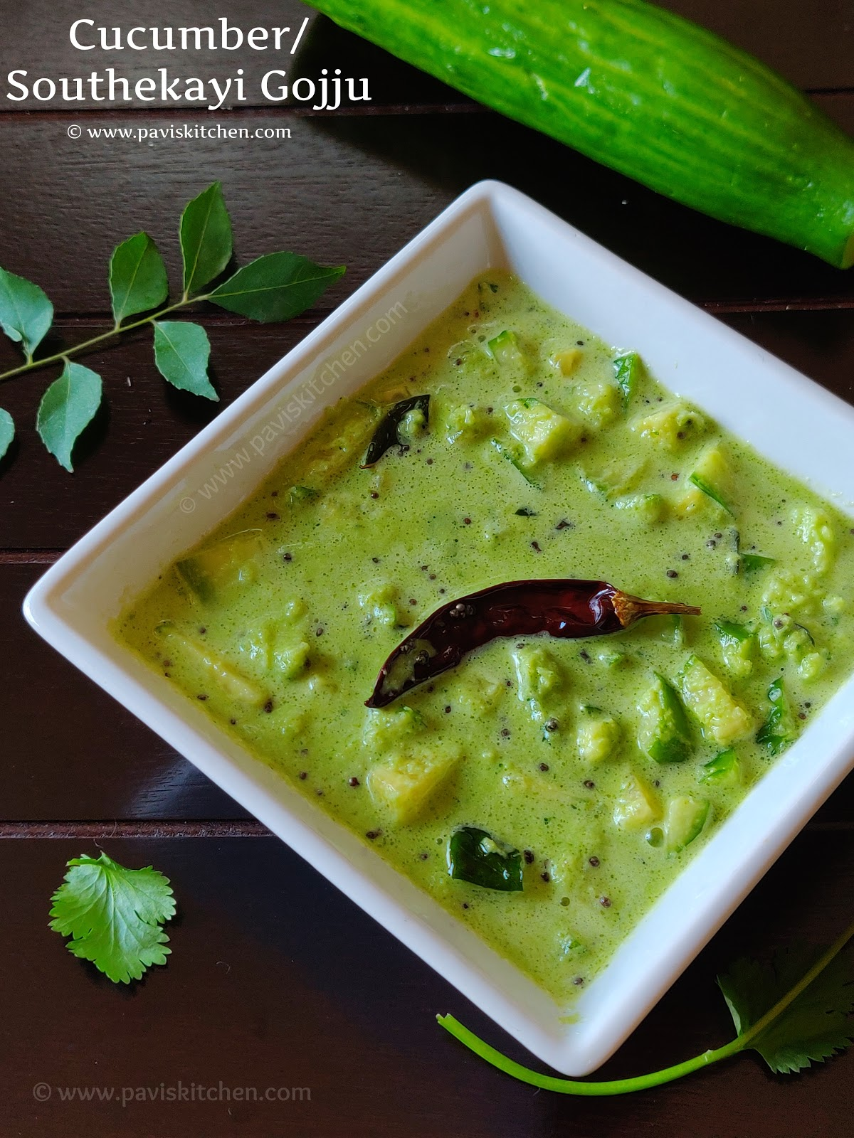 Southekai hasi gojju | Cucumber hasi gojju | Cucumber Coconut Curry Recipe