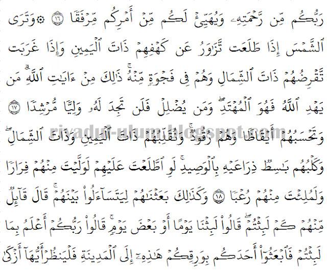 Bacaan Surat Al Kahfi Arab Latin Dilengkapi Dengan Artinya