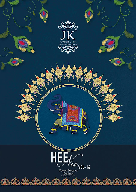 Jk Cotton Clun Heena Vol 16 Dress Material Collection In Wholesale Rate