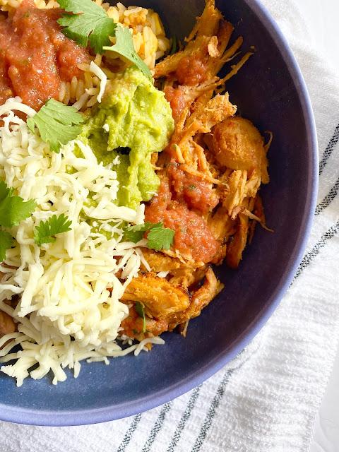 Sweet Mexican Pork Burrito Bowls