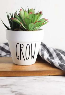 Rae Dunn planter pots