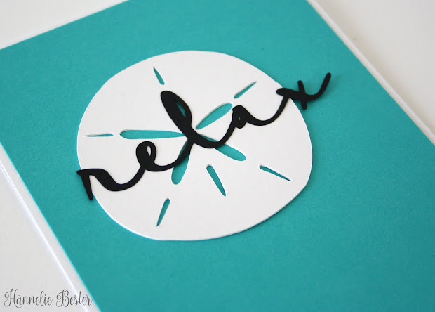 beach inspired greeting card - relax