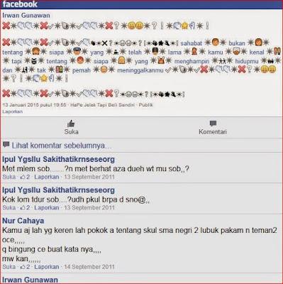 status fb alay terbaru