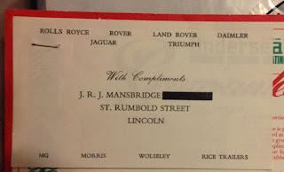 J.R.J. Mansbridge Compliments Slip