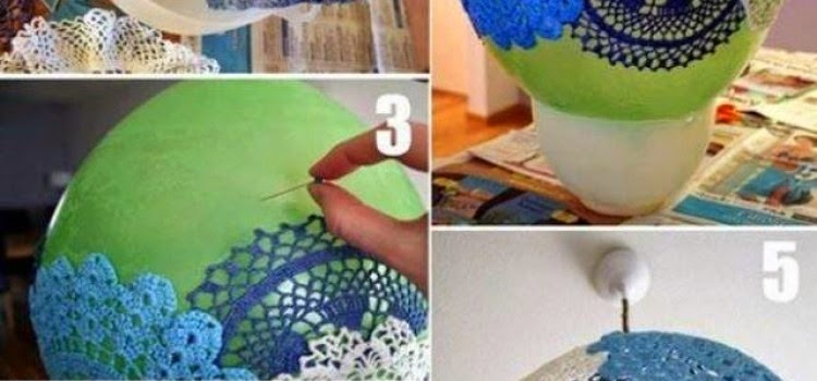 DIY: Doily Pendant Lamp