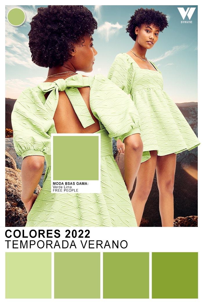 colores de moda verano 2022 verde verdes