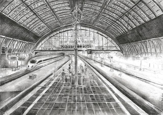 Bahnhof Köln Zeichnung