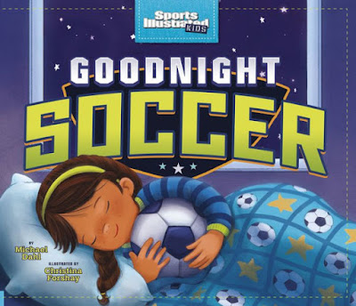 Goodnight Soccer is the perfect addition to any bedtime routine for soccer loving-kids.   With rhythm, rhyme, and great illustrations, a family goes to a sold out soccer game, cheers with the action, their team wins, and then it's time to say goodnight. Goodnight to the captains, the coaches, the players, the net, the field, everything.  #GoodnightSoccer #netgalley #preschool #toddler #kindergarten #childrenslit #soccer