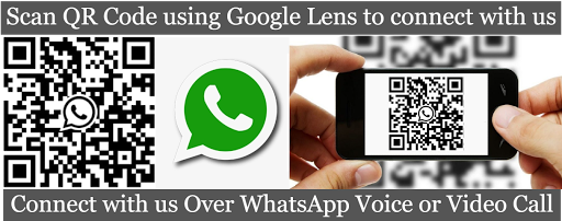 Click on this IMAGE to CONNECT with us over WhatsApp .