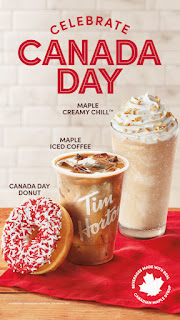 Image: Tim Hortons® celebrating Canada Day by sponsoring online community celebrations and offering Canada-themed baked goods and beverages