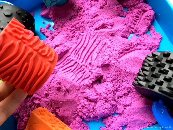 Mark Making with Kinetic Sand
