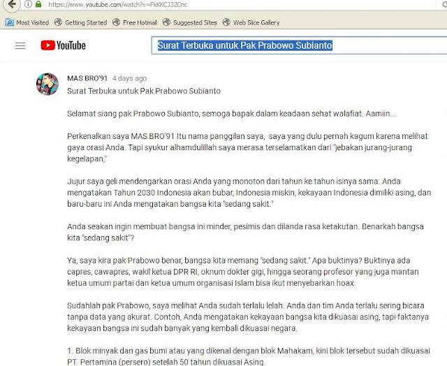 Surat Terbuka untuk Pak Prabowo Subianto   Bangsa Sedang Sakit Versi  Prabowo  1561250d63