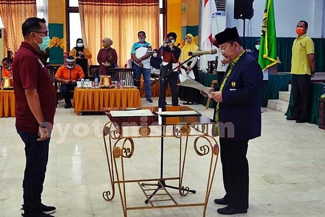 Lantik Pengkab PELTI Pangkep, Amin Syam Berharap Pengurus Lahirkan Petenis Berprestasi dari Pangkajene Dan Kepulauan
