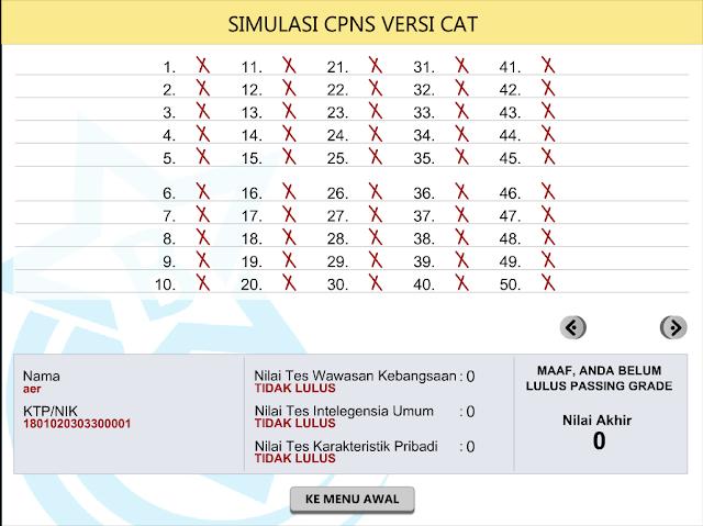 Download Simulasi CAT CPNS Offline Untuk PC gratis