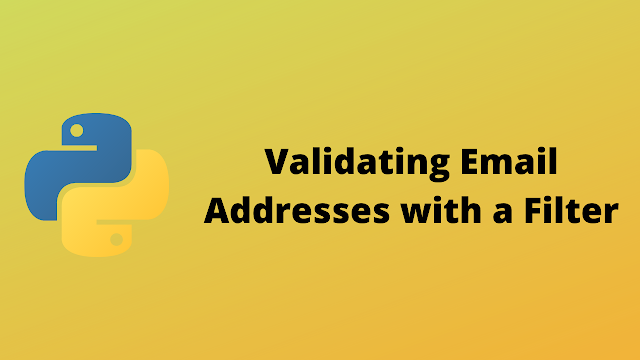 HackerRank Validating Email Addresses with a Filter solution in python