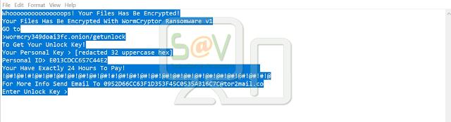 WORMCRYPT0R (Ransomware)