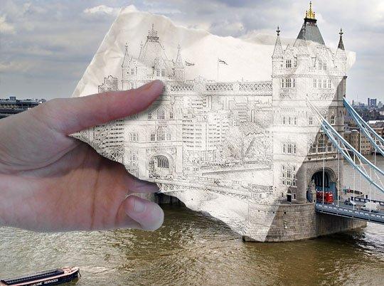 Sketsa Bangunan di Photoshp
