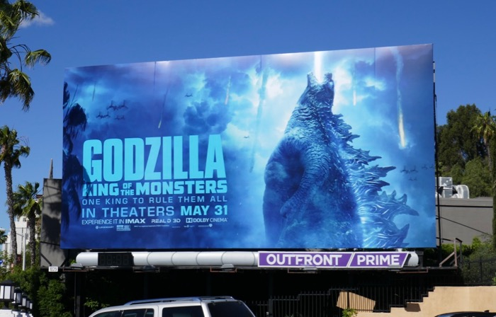 Godzilla King of Monsters movie billboard