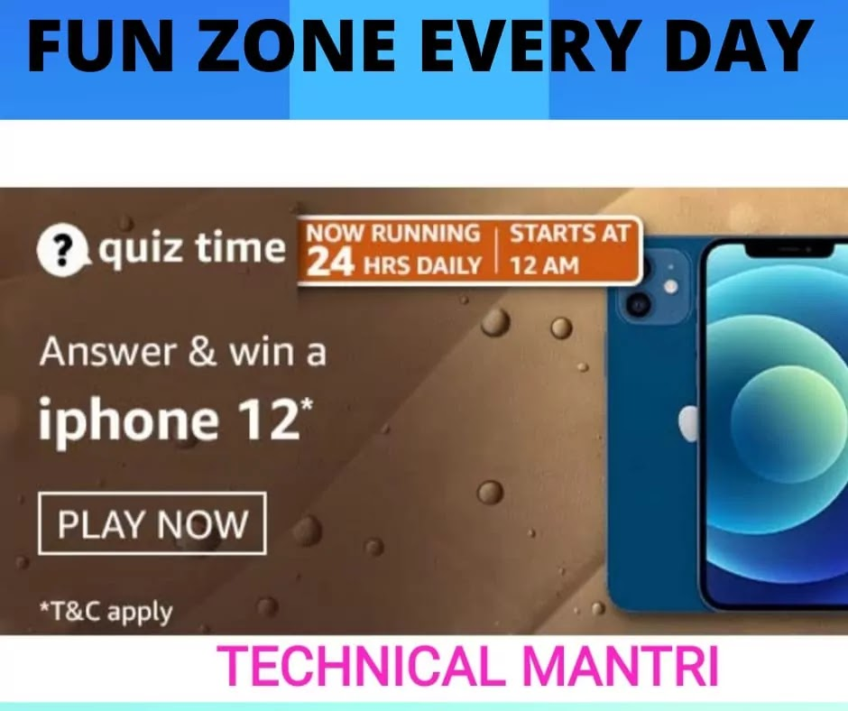 Amazon quiz answers today for 14th March 2021: Win Iphone 12
