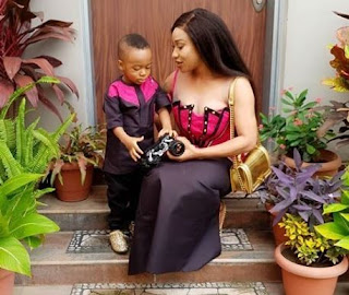 'If the hair on my son's body is touched, oga police you will have to bury me' - Tonto Dikeh raises alarm over alleged plans to arrest her