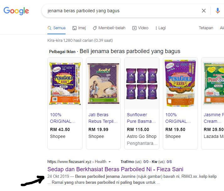google search console, perfomance blog