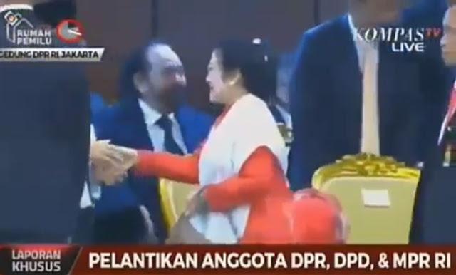 Megawati Ogah Salaman Dengan Surya Paloh