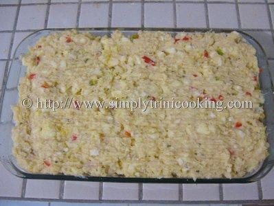 Cassava and Saltfish Pie