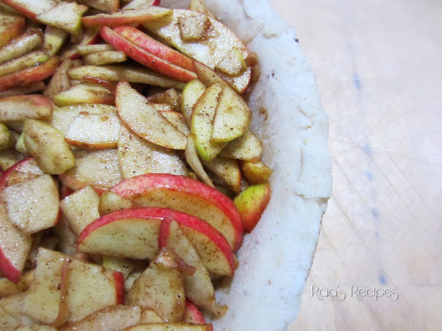 Honey Apple Pie | gluten-free, dairy-free, egg-free, refined sugar-free | RaiasRecipes.com