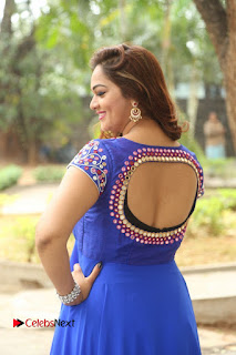 Actress Ashwini Stills in Blue Chudidar at Ameerpet Lo Release Press Meet  0013.JPG