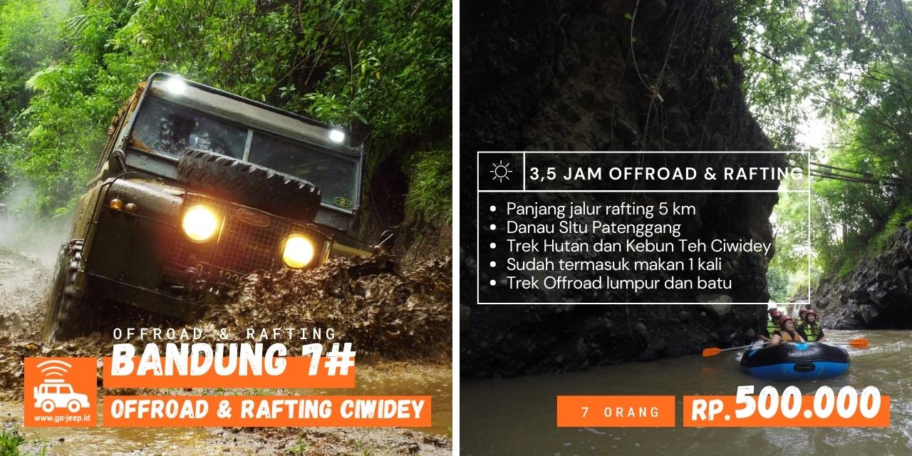 paket rafting dan fun offroad ciwidey Bandung
