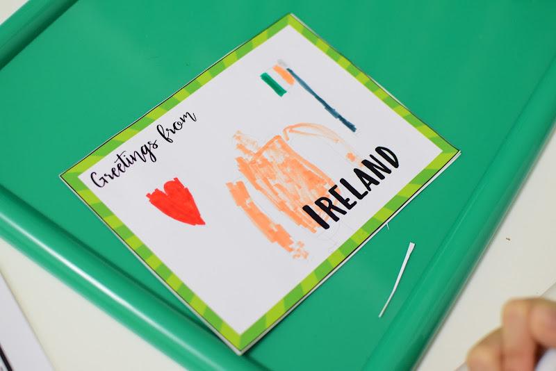 Ireland Country Study: Making Postcard and Passport