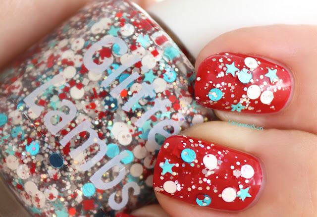 Christmas custom handmade indie nail polish.
