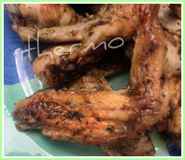 Alitas de pollo con hierbas aromáticas receta casera