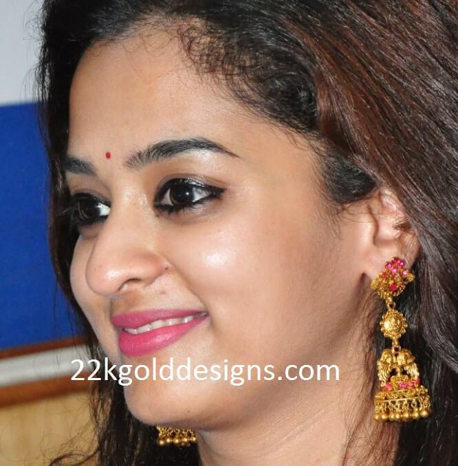 Nanditha Raj in Long Temple Jhumkis