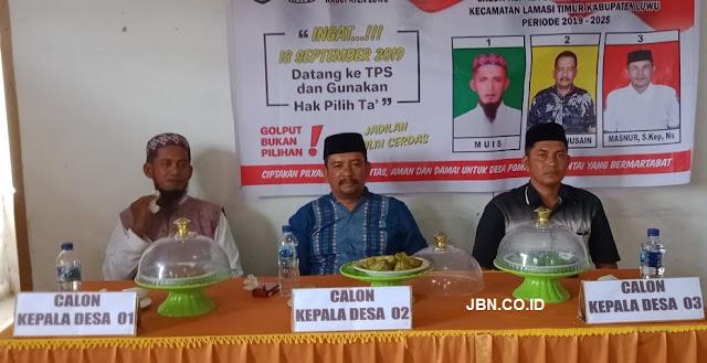 Rachmad Husain Kembali Terpilih Menjadi Kepala Desa Pompengan Pantai Periode 2019-2025
