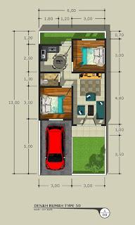 Floor plan rumah murah 400 Jutaan Gratis Semua Biaya Lokasi Dekat Kampus USU Padang Bulan Medan - Alexandria Cempaka Residence