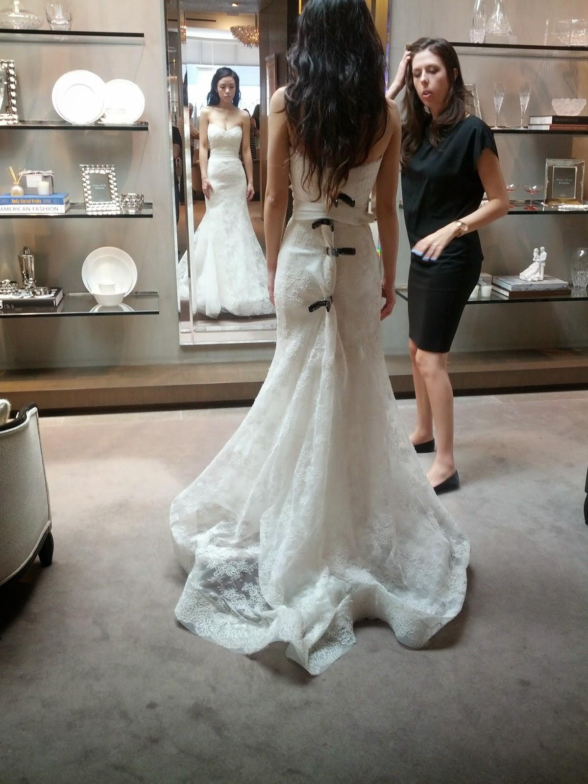 Monique Lhuillier Emma Wedding Dress Back View Pee S Peony