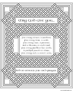knotwork coloring page - Irish Blessing